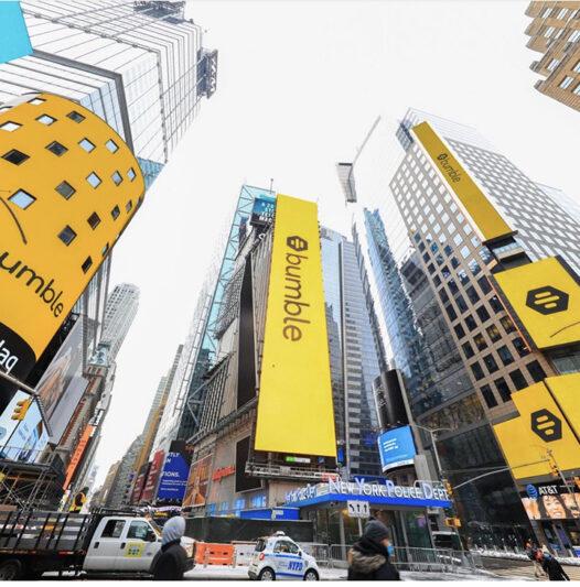 New York, stora banderoller med Bumble