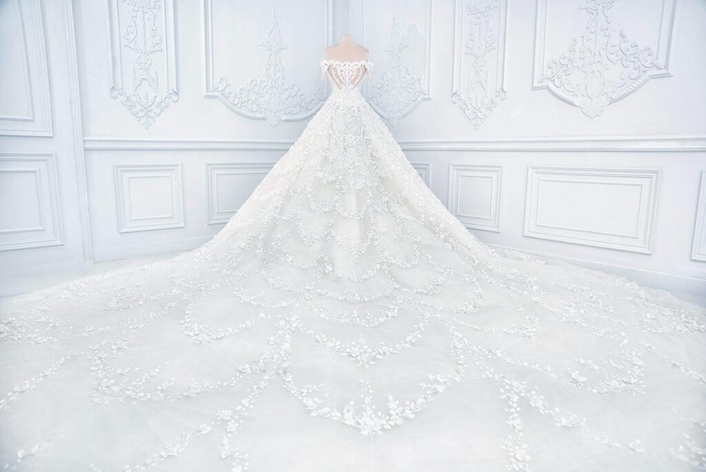 fantastisk bröllopsklänning